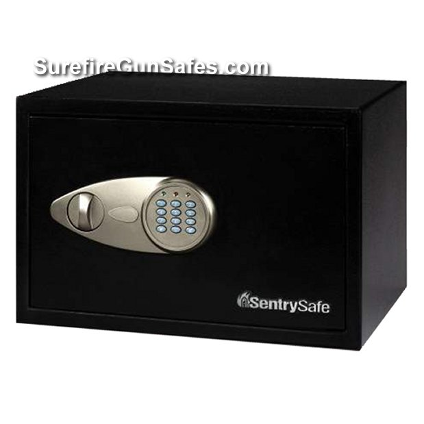 Sentry x055 small security box home safe with e for Small safe box for home